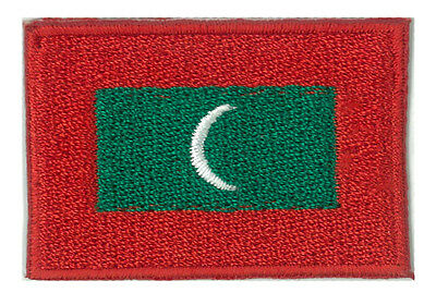 Badge patch flag patch Maldives islands little / small 45 x 30 mm