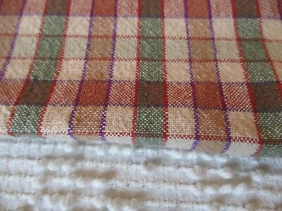 Vintage Primitive CHECK Tablecloth French Country Cottage Shabby CHIC material