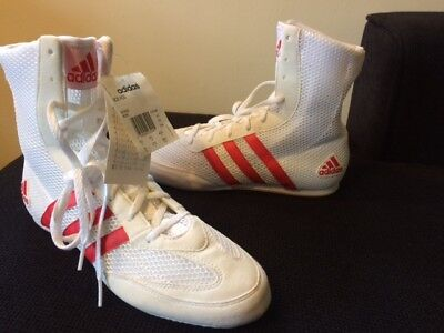 Adidas Box Hog Boxing Boots Size Uk Adults 8.5 New With Tags In White