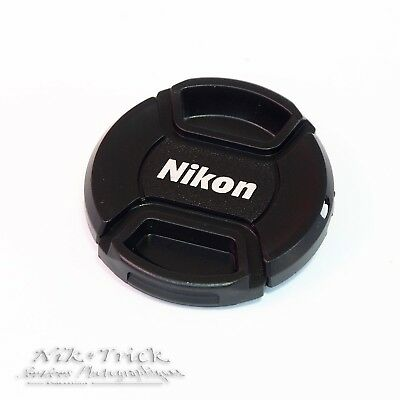 Nikon Logo 52mm Centre Pinch Lens Cap ~ Nice Tough Product!