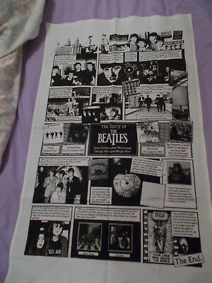 """Beatles"" tea towel depicting life of the Fab 4 from the Cavern to the end"
