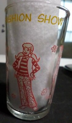 Vintage Betty & Veronica Fashion Show JELLY GLASS 1971, Archie Comic Book Girls