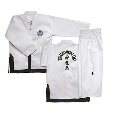 ITF BLACK BELT Taekwondo Doboks for 1st to 3rd Dan - Suits at SUPER PRICES