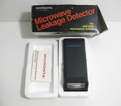 Micronta Microwave Leakage Detector + Box And Instruction Manual Cat No 22-2001