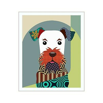 Airedale Terrier Dog Pop Art Print Puppy Animal Lover Gift Wall Decoration