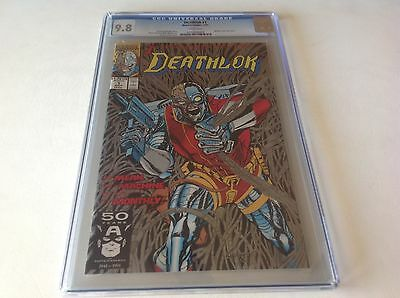 Deathlok 1 Cgc 9.8 White Pages Nice Metallic Silver Ink Cover A Marvel Comics