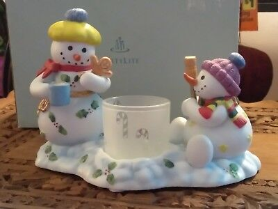 Partylite  Snowbell Kids Votive Holder ~ Christmas, Holiday ~ NEW!
