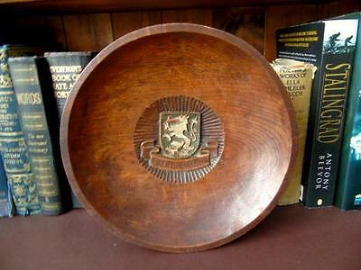 Early 20th c, Hand Carved & Turned, Wooden Wall Plaque, Crest of SteierMark