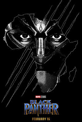 "Black Panther Poster 48x32"" 36x24"" 21x14"" Chadwick Movie Decor 2018 Print Silk"