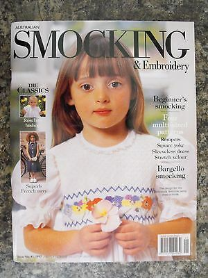 Australian Smocking & Embroidery Magazine - Issue 41 - 1997 - Rare Find