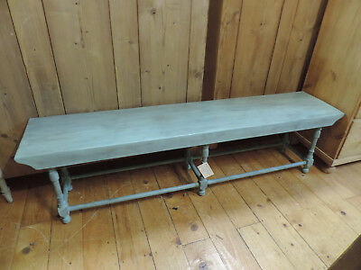 Solid Oak And Ash Long Window Or Hall Bench