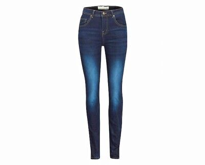 Ex New Look Ladies Faded Blue Super  Skinny Stretch Jeans  Size 6 to 18