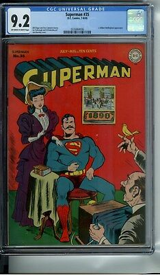 Superman #35 Cgc 9.2 Oww Pages 3Rd Highest Graded - Only 3 Copies Higher !!!