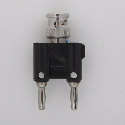 5 PCS - Binding post male to BNC male connector