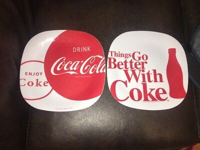Coca Cola Brand Dinnerware  Plastic Dinner Plate by Gibson ~ Used