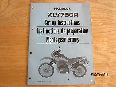 NOS Honda  XLV750 XLV750R Set up Manual Instructions Vintage Part