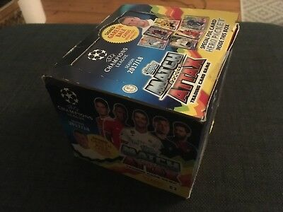 1 BOX - NEW Match Attax Champions League 2017/18 Trading Card 50 Packs Packets