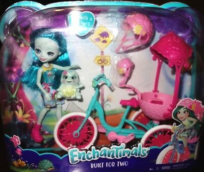 Enchantimals Built for Two Doll Playset, Turtle & Tricycle New