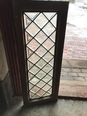 Sg 1878 Antique Oh Beveled Glass Transom Window 14 X 36