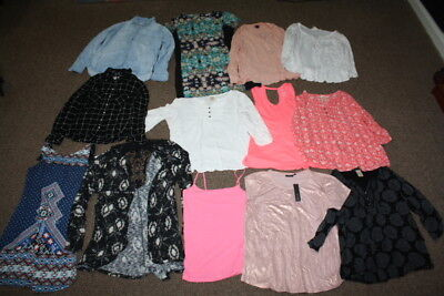 Lot of 13 Women's Shirts and Dresses Sz XL Extra Large Target Merona H&M Mossimo