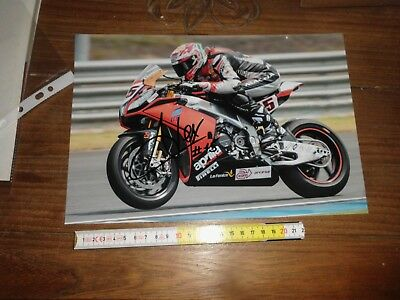 Alex De Angelis Aprilia Moto Gp Foto Autografata Signed Photo Cm 20X30