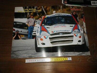 1999 Colin Mcrae Ford Focus Wrc Martini Racing  Montecarlo Rally Poster Cm 40X28