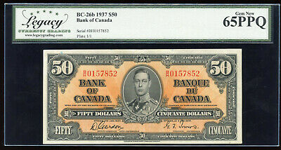 1937 Bank of Canada $50 Serial #B/H0157852 Gordon - Towers Signatures