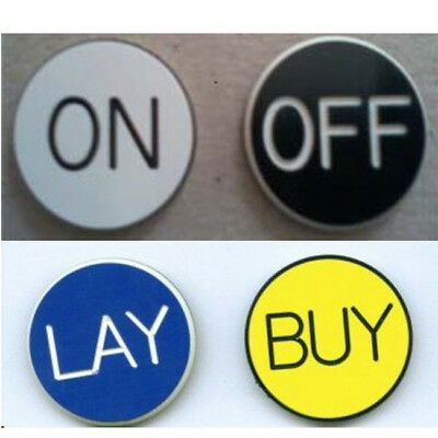 on/off and buy/lay craps lammer buttons 5 each
