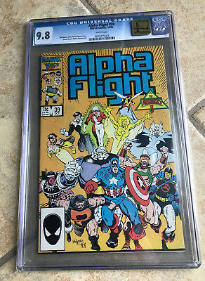 ALPHA FLIGHT #39 cgc 9.8 Guest Starring THE AVENGERS - Golden State Pedigree