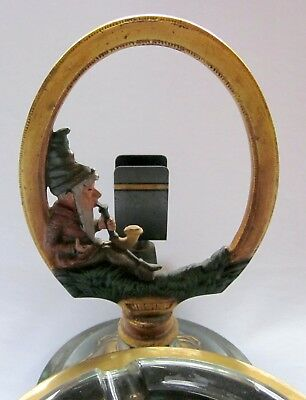 Antique Bradley & Hubbard Cast Iron/bronze/brass Gnome Smokestand / Ashtray