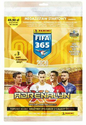 MEGA STARTER PACK FIFA 365 2020 Panini Adrenalyn XL BINDER 3 Limited 6 Booster