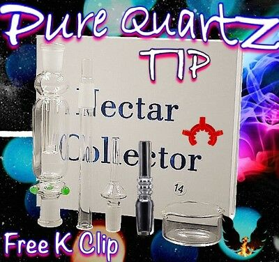 Pure Quartz Tip 14mm Nectar Collector Kit
