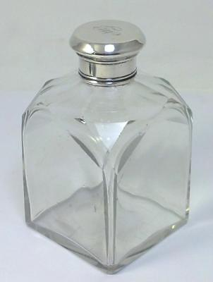 Georgian Sterling Silver-lidded Glass Cologne/Perfume Bottle – c1827 (268g) - 1