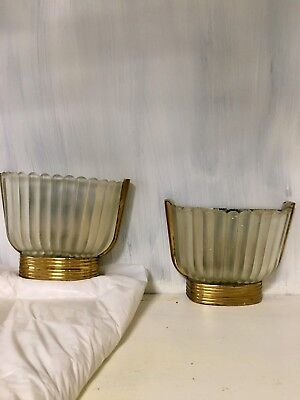 Wall Lamp Sconces Design Barovier Toso Murano Brass Crystal Art Vintage 50s 60s
