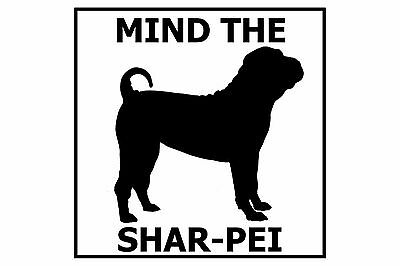 Mind the Shar Pei - Gate/Door Ceramic Tile Sign