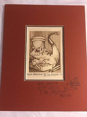 Real Musgrave SIGNED Numbered & Matted Print 1981 Eager Meerschaum