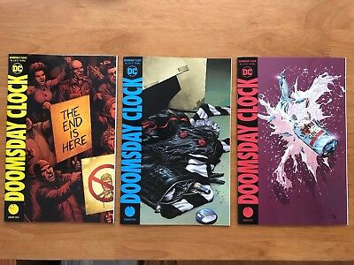 DOOMSDAY CLOCK 1 - 3 Main Cover 1ST PRINT Geoff Johns Gary Frank DC Comics  NM+