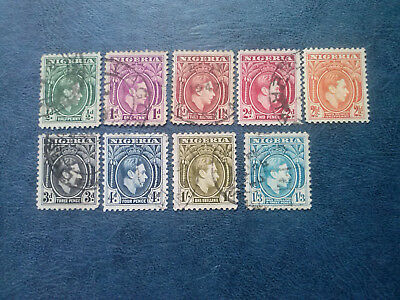 NIGERIA  1938-51     KGVI   PICTORIAL  ½d  TO 1/3d   SG 49/57 USED