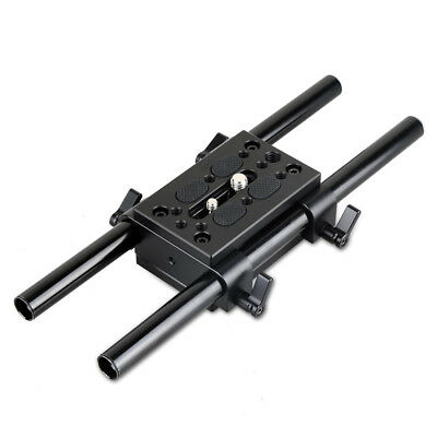 SmallRig Camera Mounting Plate Tripod Mounting Plate with 15mm Rod Clamp