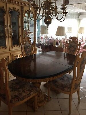 Italian Provincial Antique Dining Set