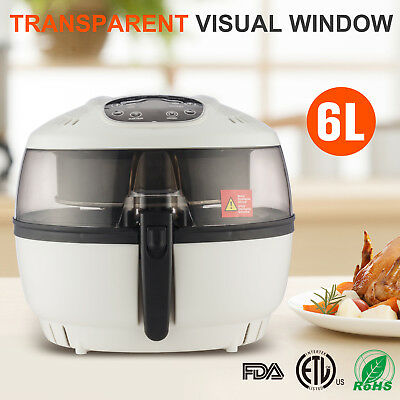 1500W 6.3QT Oil less Electrical Air Fryer Multi-Cooker Digital 8 Cooking Presets