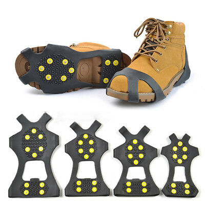 1 Pair Ice Snow Anti Slip Spikes Grips Grippers Crampon Shoes Boots Overshoe New