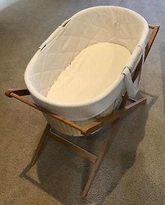 Bassinet / Cot / Moses Basket with Timber Stand for newborn