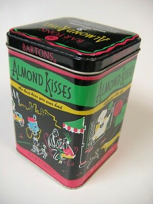 Vintage BARTON'S Chocolate Almond Kisses Candy-Empty Metal Tin Box Can