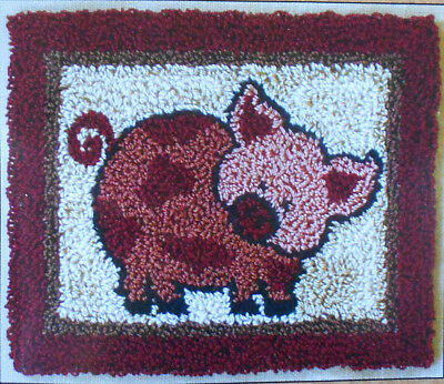 Pink Pig - cute Punch-Needle kit