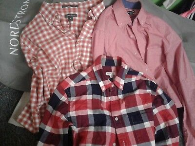 mens Eddie Bauer Merona and George size small button down shirts Lot of 3