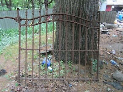 Antique Vintage Wrought Iron Cemetery Gate (100 Plus Yr. Old)