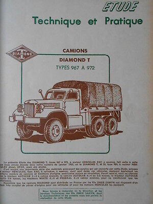 ► Revue Technique - Camion Diamond T - Simca Aronde - Embrayage Simca - 1958