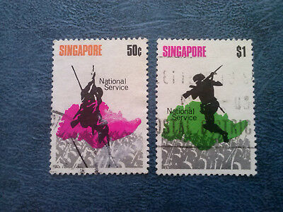 Singapore  1970 National Service #120-121 USED