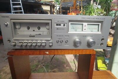 Toshiba PC-X10M Dolby Metal Cassette Tape Deck Recorder